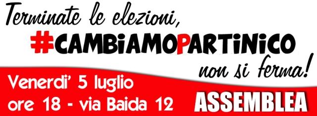 assemble post elezioni Cambiamo Partinico