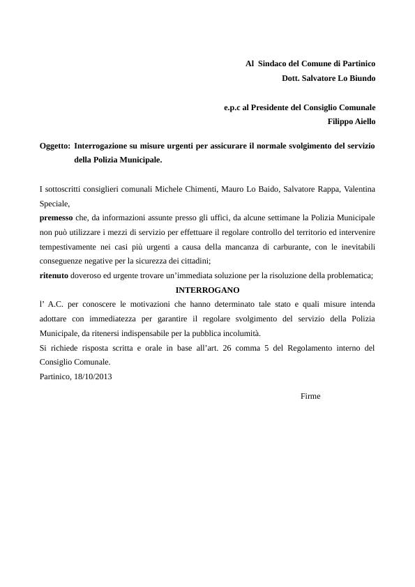 interrogazione_carburantepolizia municipale18102013
