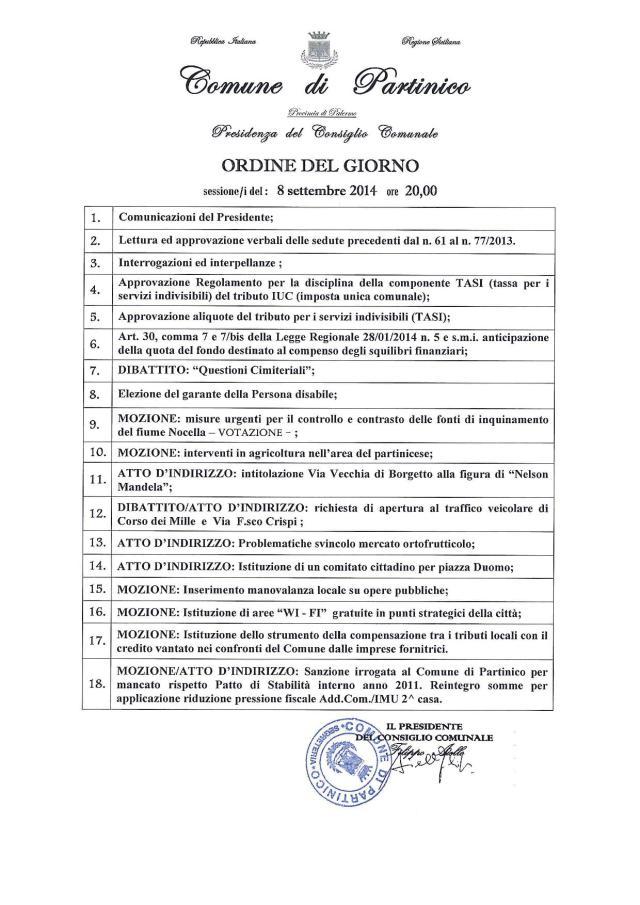 convocazione CC 8-9-2014